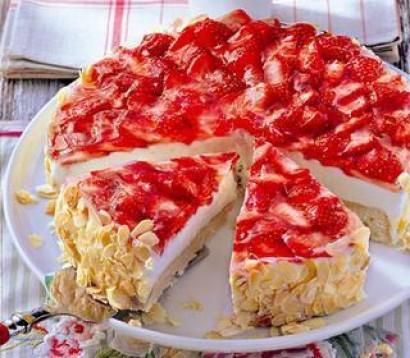 Aydın Usulü Tatlı Cheesecake Çilekli-Meyveli Tarifi
